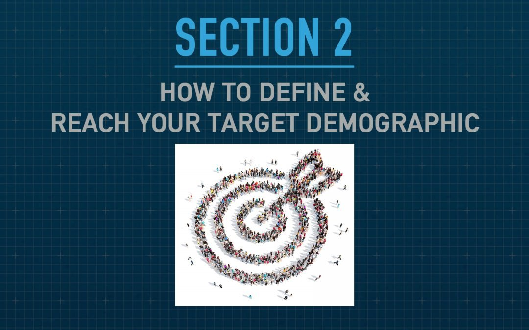 "How to Define and Reach Your Target Demographic – Section 2 of ""The Blueprint – How to Attract & Retain Customers Online"""